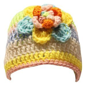 🆕Hand-Crocheted Multi-Colored Pastel Beanie